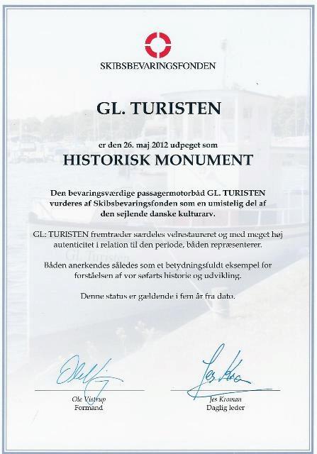 Skibsbevaringsfonden GL Turisten RY Historisk monument